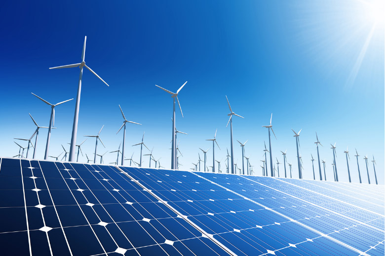 sustainable and renewable electricity powered by solar and wind in germany