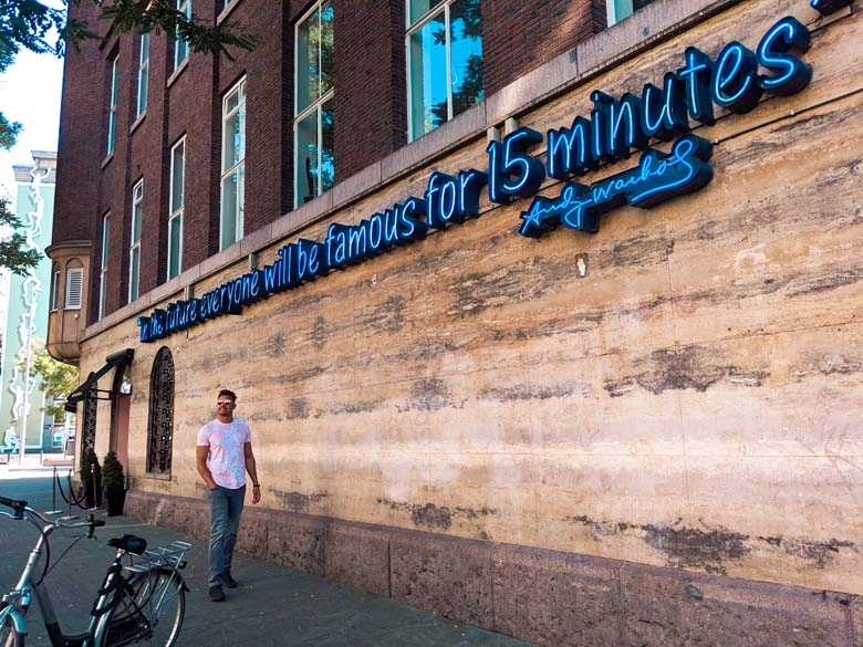 everyone will be famous neon light sign in rotterdam is a top attraction and instagrammable photo spot