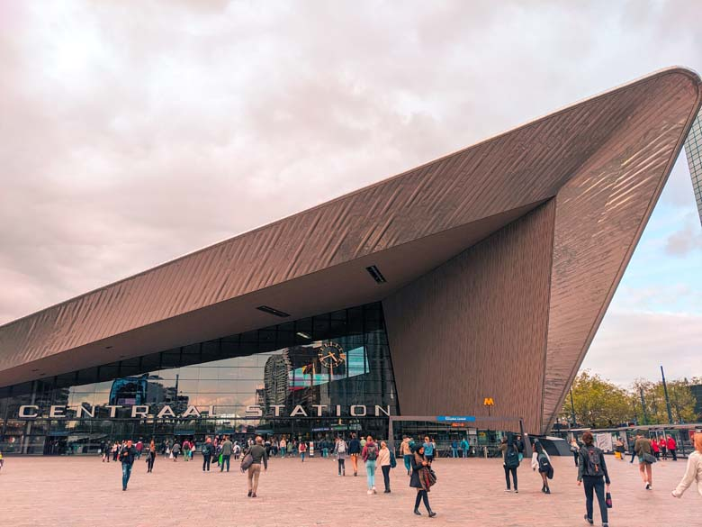 central station is a main attraction in rotterdam