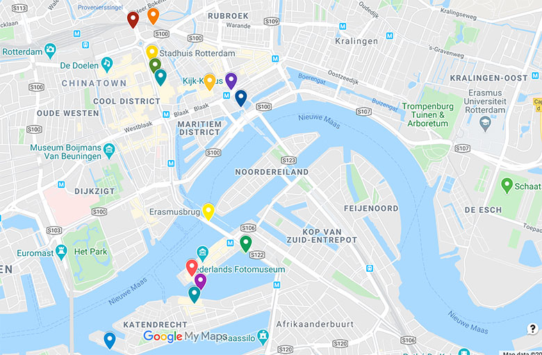 link to google map for rotterdam top places to see in 2 day itinerary