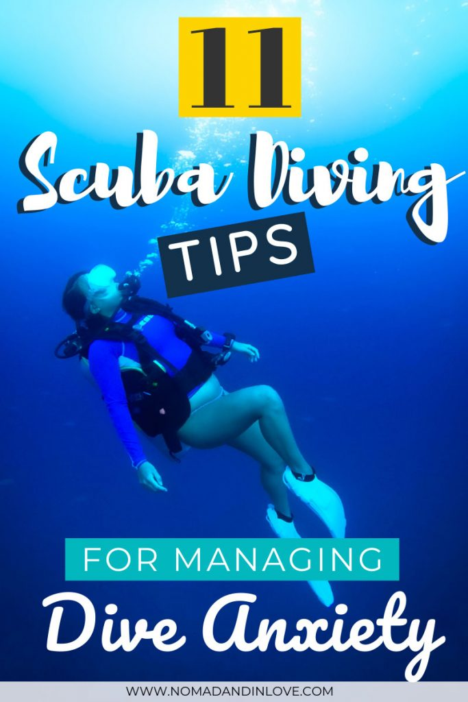 pinterest save image for 11 scuba diving tips for diving anxiety