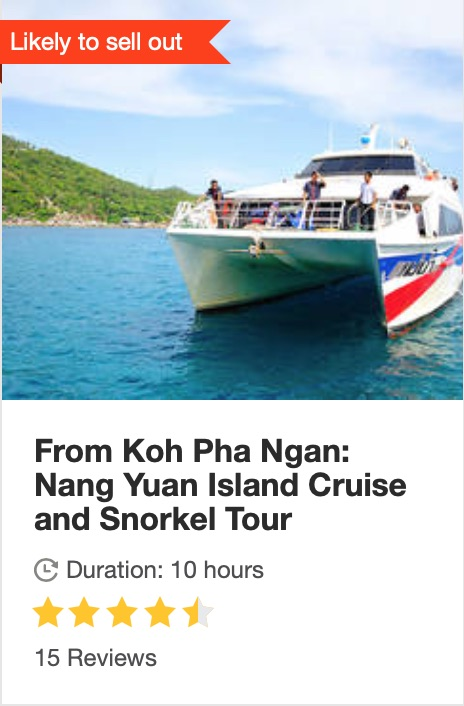 get your guide link to booking a snorkelling tour in koh phangan thailand