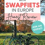 pinterest save image for biking sharing in europe with swapfiets, an honest review