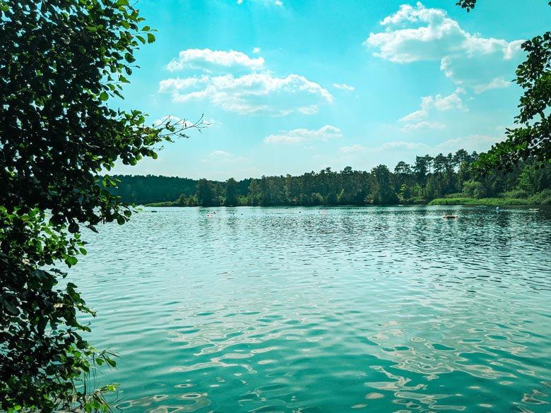 the pristine, clean and crystal clear waters at tonsee lake near berlin is ideal for swimming