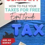 pinterest pin image of a guide to help expats and freelancers in germany to file their taxes for free