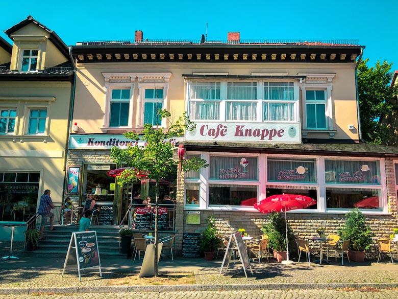 a traditional german pastry shop called konditorei at Woltersdorf, in Berlin Brandenburg region