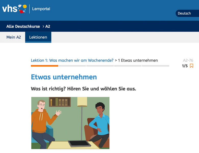 free german lessons online with volkhochschule