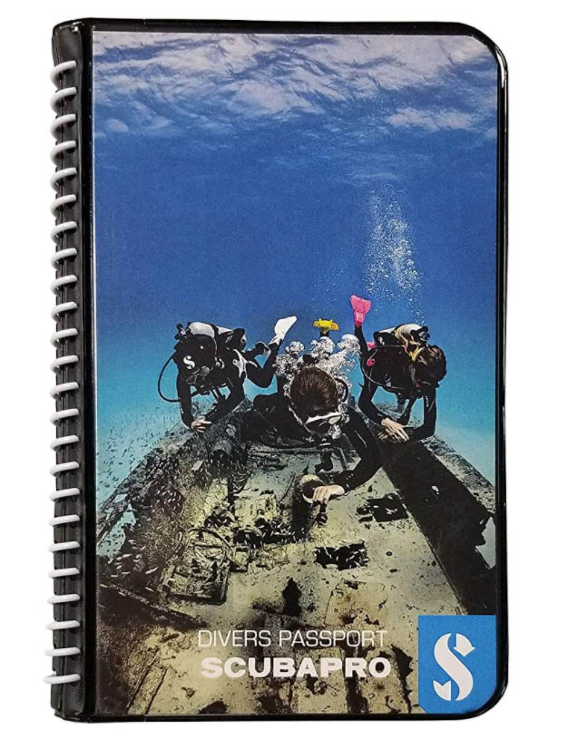 waterproof dive log books make great christmas scuba gifts