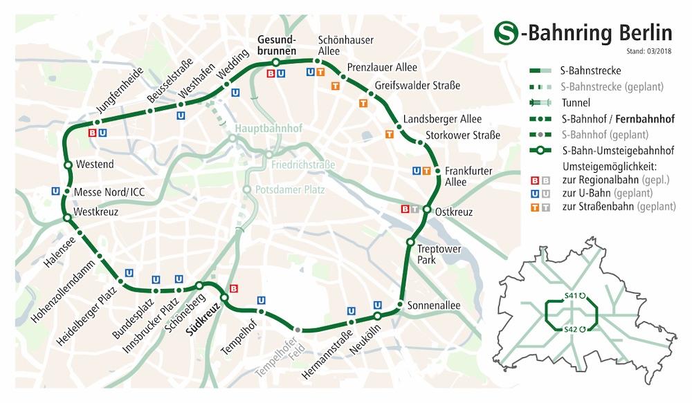 map of berlin sbahn ring for bike sharing