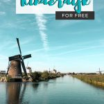 pinterest save image for seeing kinderdijk windmill travel guide