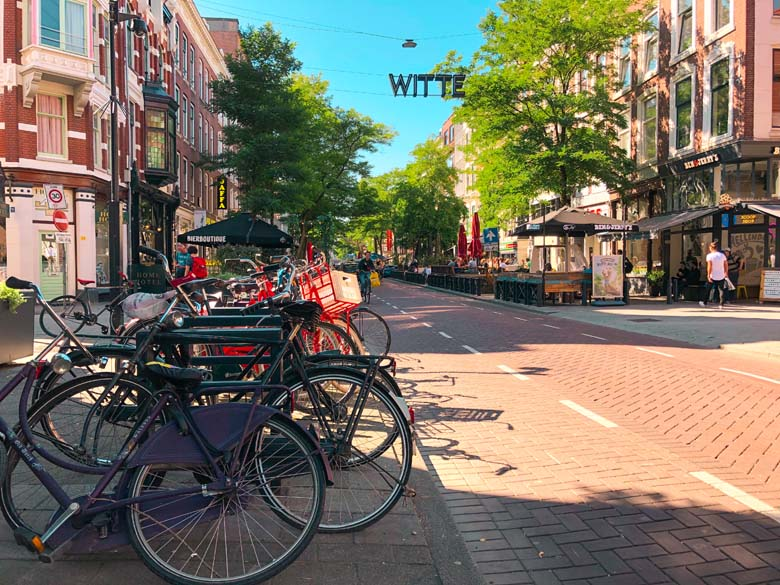 witte de withstraat is the most popular street for restaurants, cafes and nightlife