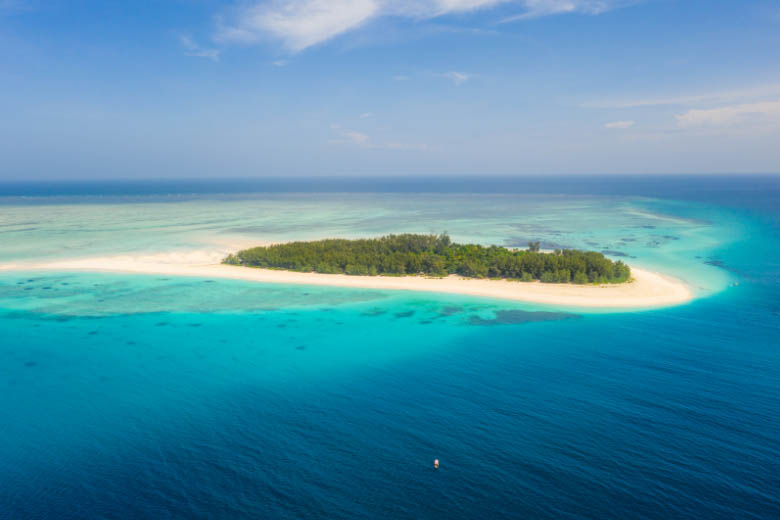 mnemba island off the coast of zanzibar is famous for its marine conservation area mnemba atoll and  popular for scuba diving